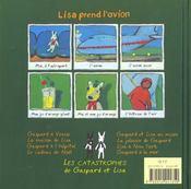 Lisa prend l'avion - 4ème de couverture - Format classique