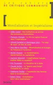 Mondialisation Et Imperialisme - Intérieur - Format classique