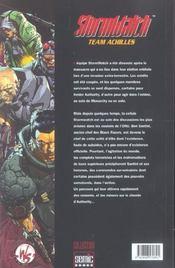 Stormwatch ; Team Achilles - 4ème de couverture - Format classique