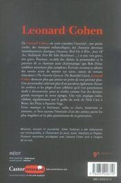 Leonard Cohen - 4ème de couverture - Format classique