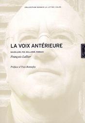 La voix antérieure - Intérieur - Format classique
