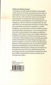 Liturgie et contemplation - 4ème de couverture - Format classique