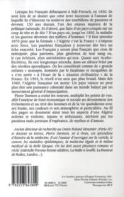 Un siècle de passions algériennes ; une histoire de l'Algérie coloniale, 1830-1940 - 4ème de couverture - Format classique