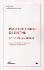 Pour une histoire de l'intime et de ses variations - Couverture - Format classique