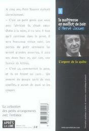 L Argent De La Quete - 4ème de couverture - Format classique