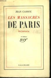 Les Massacres De Paris. - Couverture - Format classique