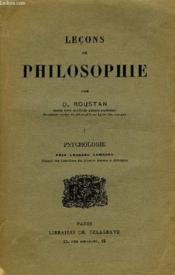 Lecons De Philosophie, I. Psychologie - Couverture - Format classique