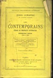 LES CONTEMPORAINS. Etudes et portraits littéraires. Première série. 1884 et 1885. - Couverture - Format classique
