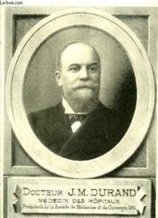 Docteur J.-M. Durand - Medaillons Bordelais - Livraison N° 84 - Couverture - Format classique