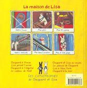 La maison de Lisa - 4ème de couverture - Format classique