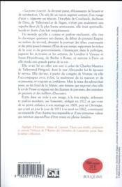 Souvenirs et chronique de la duchesse de Dino, nièce aimée de Talleyrand - 4ème de couverture - Format classique