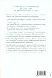 L'Epreuve D'Arts Plastiques Au Concours De Professeurs Des Ecoles - Couverture - Format classique