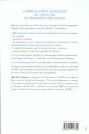 L'Epreuve D'Arts Plastiques Au Concours De Professeurs Des Ecoles - 4ème de couverture - Format classique