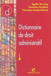 Dictionnaire De Droit Administratif ; 3e Edition - Intérieur - Format classique
