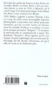 Les Aventures De Boro. Reporter Photographe T.4 ; Mademoiselle Chat - 4ème de couverture - Format classique