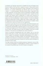 La nature philo - 4ème de couverture - Format classique