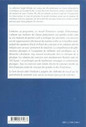Electrocinetique 2e Annee Mp-Mp*-Pc-Pc*-Pt-Pt* Exercices Corriges - 4ème de couverture - Format classique
