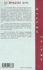 Le Mendiant Bleu - 4ème de couverture - Format classique
