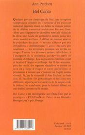 Bel canto - 4ème de couverture - Format classique