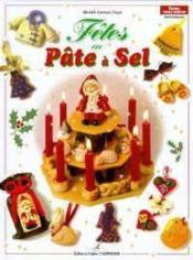 Les fêtes en pâte a sel - Couverture - Format classique