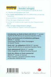 Anna droit 2001 droit civil droit obligations - 4ème de couverture - Format classique