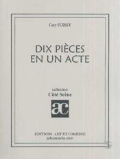 Dix pieces en un acte - Couverture - Format classique