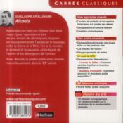 Alcools - 4ème de couverture - Format classique