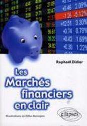 Les marchés financiers en clair - Couverture - Format classique