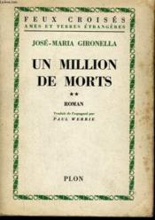 Un Million De Morts, Tome 2 - Couverture - Format classique