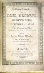 Collection Complete Des Lois, Decrets, Ordonnances, Reglemens Et Avis Du Conseil-D'Etat Tome 7 - Couverture - Format classique
