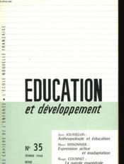 Education Et Developpement N°35 - Couverture - Format classique