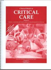 Clinical Briefs In Critical Care - Volume 9 - Couverture - Format classique