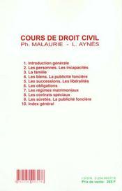 Droit Civil T.6 ; Les Obligations ; 10e Edition - 4ème de couverture - Format classique