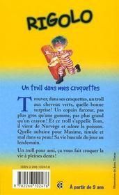 Rigolo T.2 ; Un Troll Dans Mes Croquettes - 4ème de couverture - Format classique