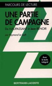 Une Partie De Campagne - Parcours De Lecture - Couverture - Format classique