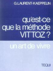 Qu'Est Ce Que La Methode Vittoz - Intérieur - Format classique