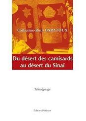Du désert camisards au désert sinaï - Intérieur - Format classique