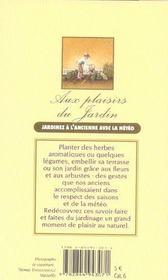 Plaisirs Du Jardin (Aux) - 4ème de couverture - Format classique