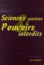 Sciences secrètes et pouvoirs interdits - Intérieur - Format classique