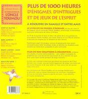Les Tribulations De L'Oncle Toumou - 4ème de couverture - Format classique