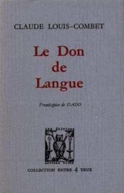 Le don de langue - Couverture - Format classique