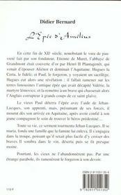 L'epee d'amelius - 4ème de couverture - Format classique