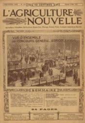L'agriculture nouvelle, n°1142, samedi 8 mars: vue d'ensemble du concours général agricole de 1913 - Couverture - Format classique