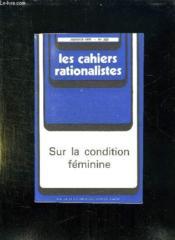 Les Cahiers Rationalistes N° 320 Janvier 1976. Sur La Condition Feminine. - Couverture - Format classique