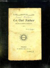 Lo Gai Saber N° 211 Mars Abrilh 1944. Revista De L Escola Occitana. - Couverture - Format classique
