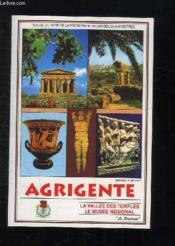 Agrigente. La Vallee Des Temples Le Musee Regional. - Couverture - Format classique