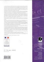 Schema de services collectifs de l'information et de la communication - 4ème de couverture - Format classique