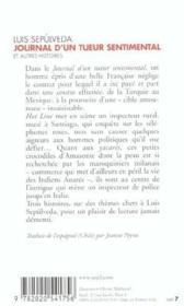 Journal d'un tueur sentimental et autres histoires - Couverture - Format classique