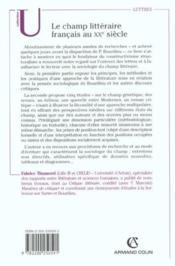 Le champ litteraire francais au xxe siecle - elements pour une sociologie de la litterature - Couverture - Format classique
