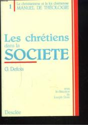 Chretiens & Soc Manuel 1 - Couverture - Format classique